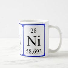 mug featuring the element Nickel