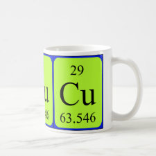 mug featuring the element Copper