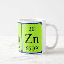 mug featuring the element Zinc