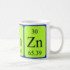 mug featuring the element Zinc