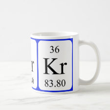 Krypton periodic table mug