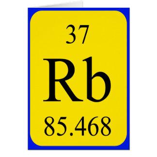 Element 37 card - Rubidium