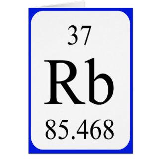 Element 37 card - Rubidium white