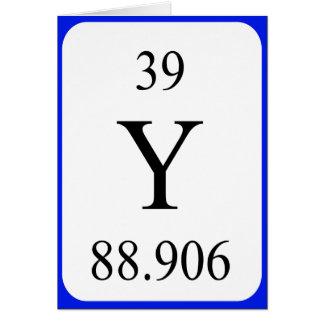 Element 39 card - Yttrium white