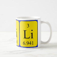 mug featuring the element Lithium