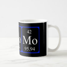 Molybdenum periodic table mug