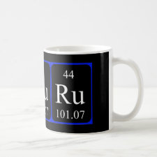 mug featuring the element Ruthenium