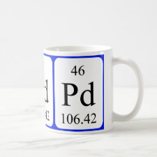 mug featuring the element Palladium