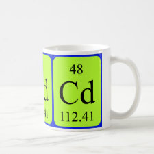 mug featuring the element Cadmium