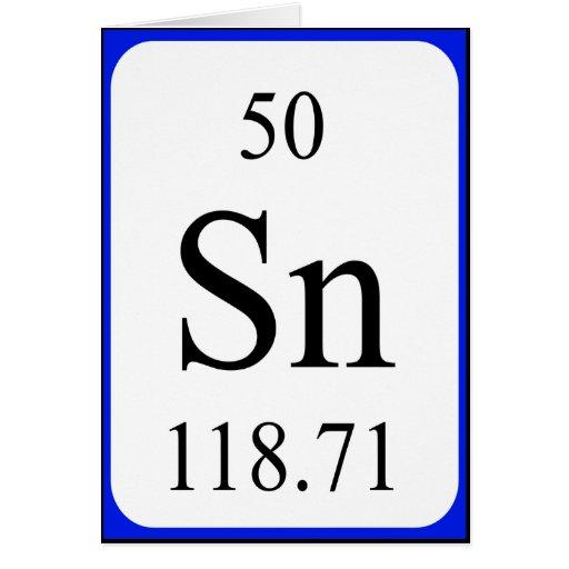 Element 50 card - Tin white