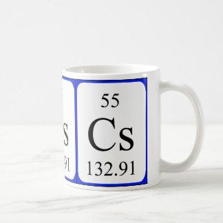 Element 55 white mug - Caesium