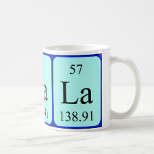 mug featuring the element Lanthanum