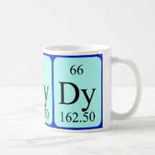 mug featuring the element Dysprosium