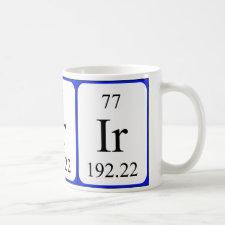 mug featuring the element Iridium