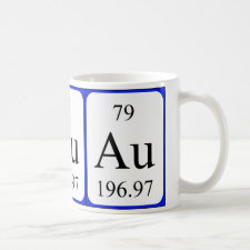 mug featuring the element Gold