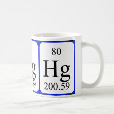 mug featuring the element Mercury