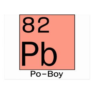 Element 82 Po-Boy Postcard