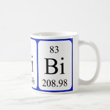 mug featuring the element Bismuth