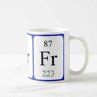 Element 87 white mug - Francium