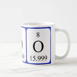 Element 8 white mug - Oxygen