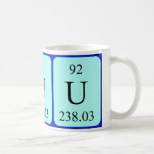 mug featuring the element Uranium