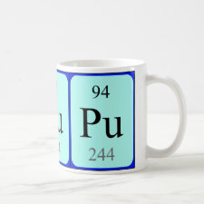 Plutonium periodic table mug