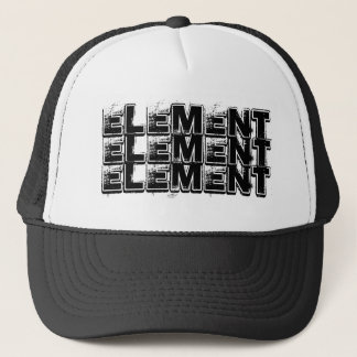 ELEMENT, ELEMENT, ELEMENT TRUCKER HAT