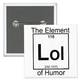 Element LOL 15 Cm Square Badge