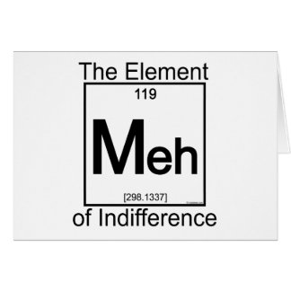 Element MEH Greeting Card