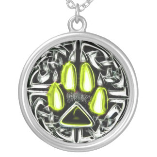 Element of Air Werewolf Protection Amulet Silver Plated Necklace