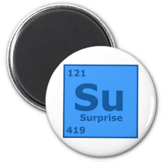Element of Suprise 6 Cm Round Magnet