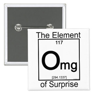 Element OMG 15 Cm Square Badge