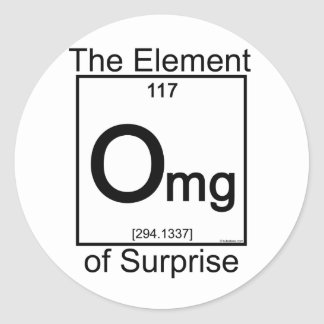 Element OMG Classic Round Sticker