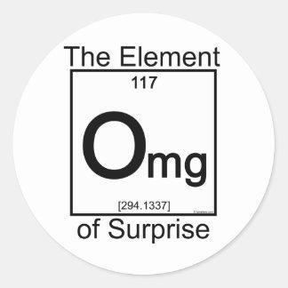 Element OMG Round Sticker