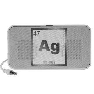 Element silver more silver mini speakers