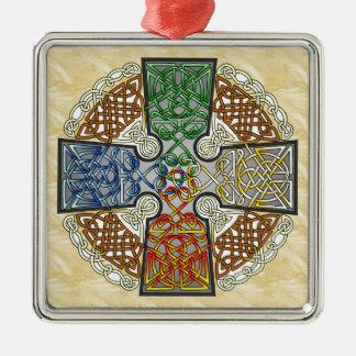 Elemental Celtic Cross Medallion Christmas Ornament