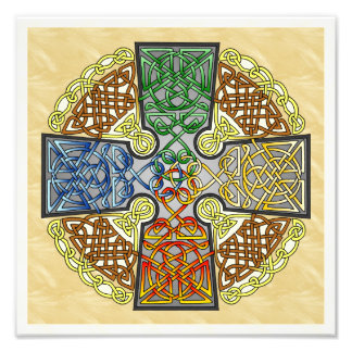Elemental Celtic Cross Medallion Photo Print