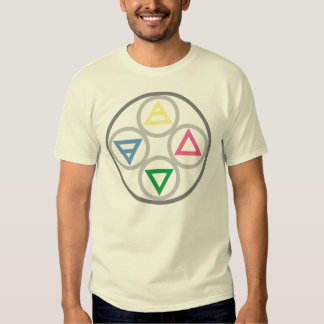 Elemental Cycle of the Four Elements T-shirts