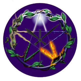 Elemental Pentacle Clock