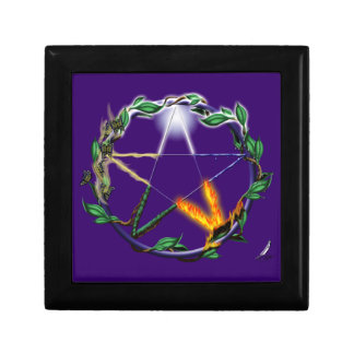 Elemental Pentacle Trinket Box