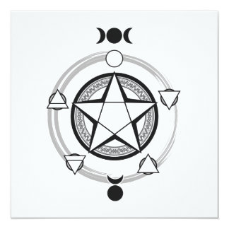 Elemental Pentagram Invitations