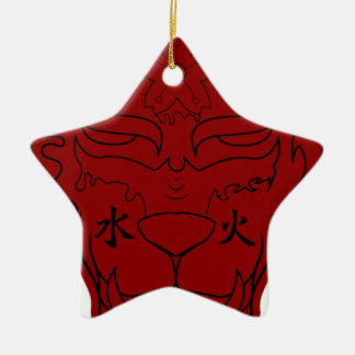 Elemental Tiger Christmas Ornament