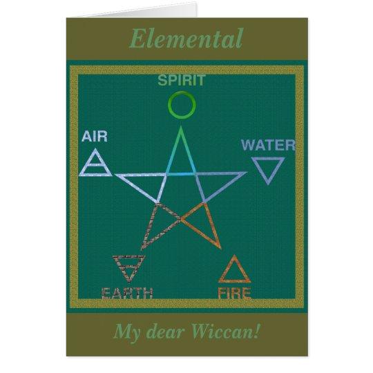 Elemental Wiccan Pentagram Rites of Passage Card