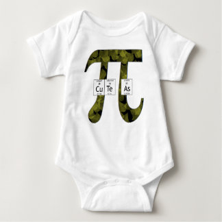 Elementally Cute as Pi (leaves) Baby Bodysuit