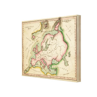 Elementary Map Canvas Print