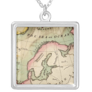Elementary Map Silver Plated Necklace