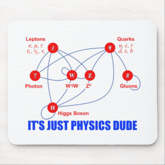 Elementary Particles of Physics Higgs Boson Quarks Mouse Pad