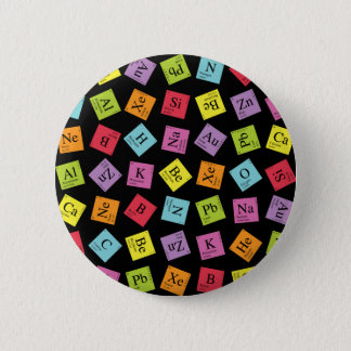 Elementary Periodic (Dark) 6 Cm Round Badge