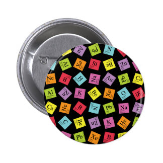 Elementary Periodic (Dark) 6 Cm Round Badge