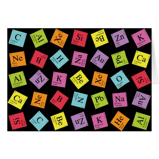 Elementary Periodic (Dark) Card